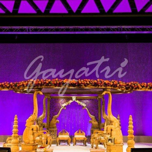 Hathi indian wedding mandap decoration