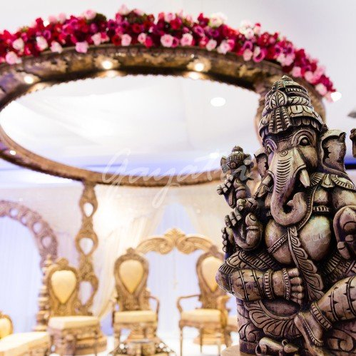 Ek Sham indian wedding mandap backdrops