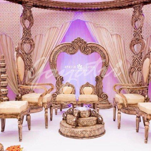 Ek Sham indian wedding mandap designs
