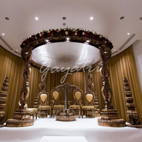 Ek Sham indian wedding mandap decoration
