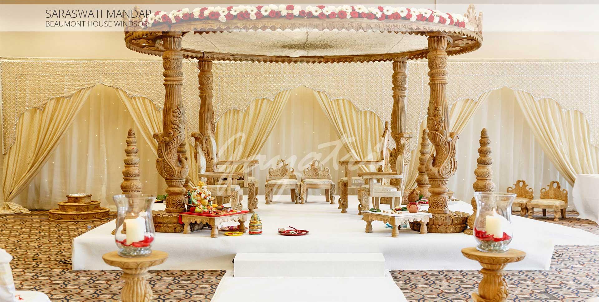 Saraswati indian wedding mandap decorations